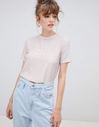 New Look Be Cool Be Kind Metallic Slogan Tee