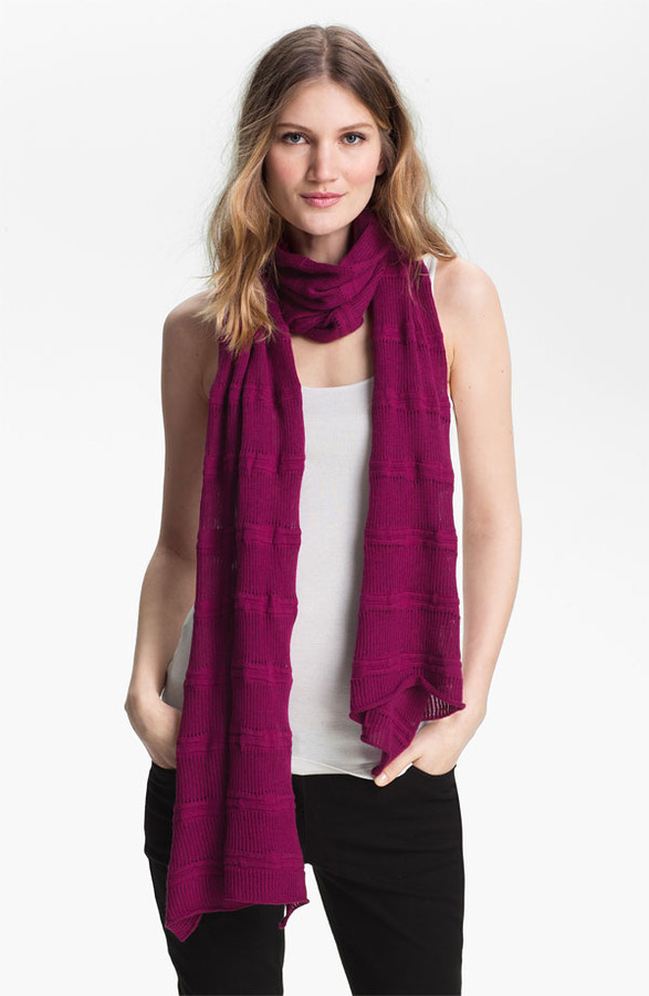 Eileen Fisher Organic Cotton & Cashmere Scarf