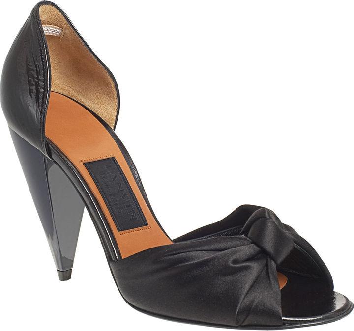 Lanvin Knotted d'Orsay Sandal - BLACK