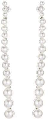 Oscar de la Renta Pearl Strand Earrings