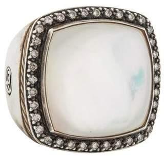 David Yurman Mother of Pearl Doublet & Diamond Albion Ring