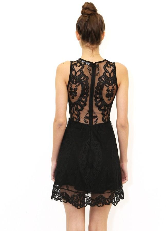 Lulu For Love & Lemons Dress In Black