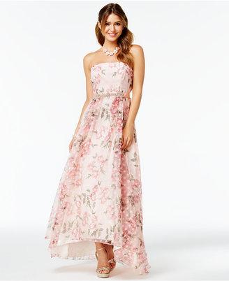 B Darlin Juniors' Floral-Print A-Line Gown $149 thestylecure.com