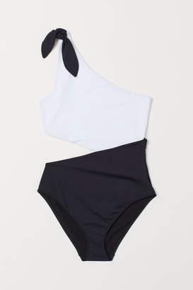 H&M One-shoulder Swimsuit - Black