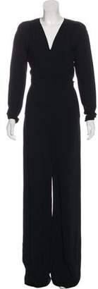 Stella McCartney Long Sleeve Wide-Leg Jumpsuit