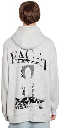 Facetasm Oversize Hooded Cotton Jersey Sweatshirt