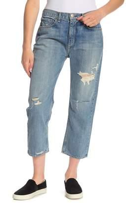 Rag & Bone Distressed Boyfriend Cropped Jeans
