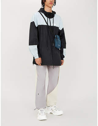 Off-White Panelled logo-print shell hooded jacket