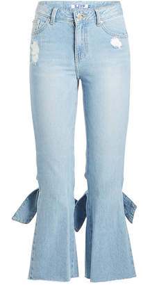 Sjyp Bow Detail Cropped Jeans