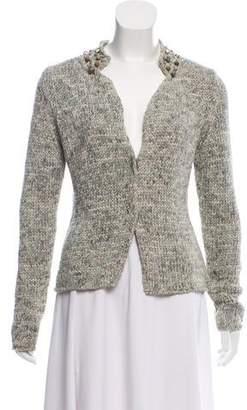 Fabiana Filippi Embellished Open Knit Cardigan