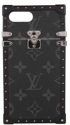 Louis Vuitton 2017 Monogram Eclipse Eye-Trunk iPhone 7 Plus Case