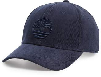 Timberland Logo Embroidered Corduroy Ball Cap