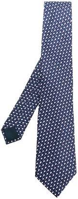 Lanvin geometric patterned tie