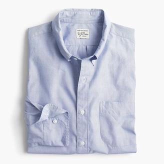 J.Crew Untucked stretch Secret Wash shirt in end-on-end cotton poplin