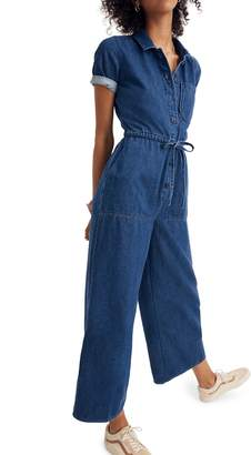 Madewell Wide Leg Denim Utility Jumpsuit