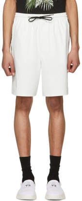 Y-3 White PU Shorts