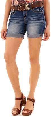 Juniors' Wallflower Luscious Curvy Jean Midi Jean Shorts