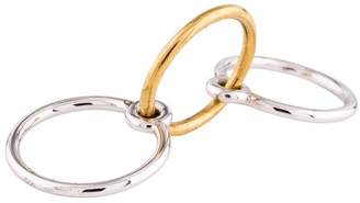Charlotte Chesnais three lovers ring silver and gold