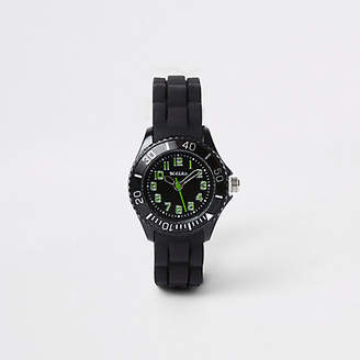 River Island Boys black rubber strap sport watch