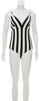 Land of Distraction Valerie Striped Bodysuit w/ Tags