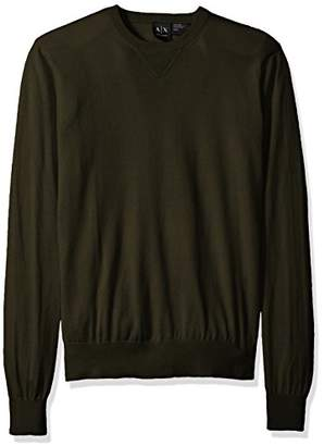 Armani Exchange A|X Men's Long Sleeve Crew Neck Pullover Knit Slim Fit