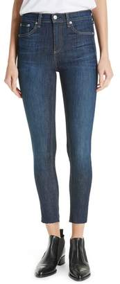 Rag & Bone High Waist Skinny Ankle Jeans (Mad River)