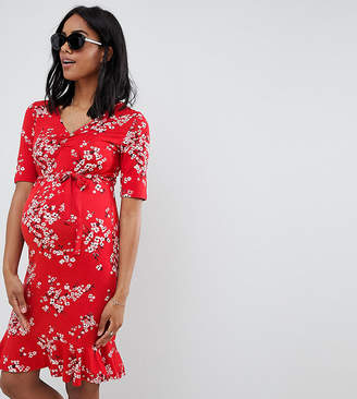 Mama Licious Mama.licious Mamalicious Floral Jersey Tea Dress