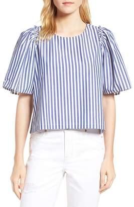 Habitual Valeria Stripe Stretch Cotton Top