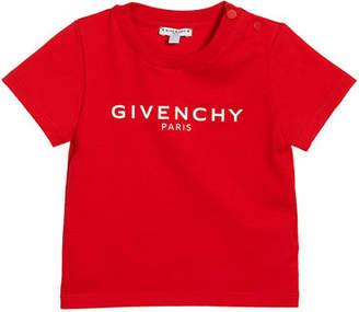 Givenchy Boy's Short-Sleeve Logo Tee, Size 12M-3
