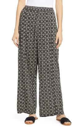 Caslon Print Wide Leg Pants