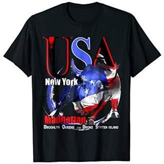 New York USA T Shirt American Patriotic Gift Souvenir Tee