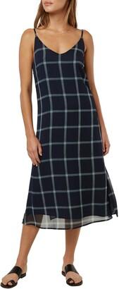 O'Neill Shaw Plaid Midi Dress