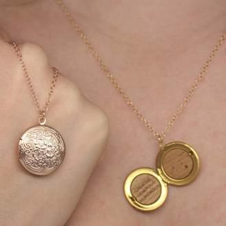 6c4f1c0a4dd041 Maria Allen Boutique Zodiac Round Locket Necklace