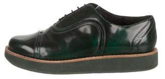 Camper Patent Leather Round-Toe Oxfords