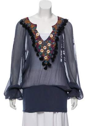 Just Cavalli Silk Embellished Tunic