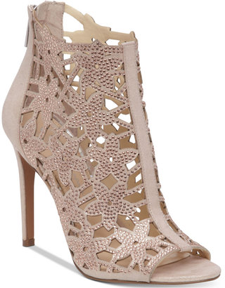 Jessica Simpson Gessina Embellished Peep-Toe Evening Sandals $119 thestylecure.com