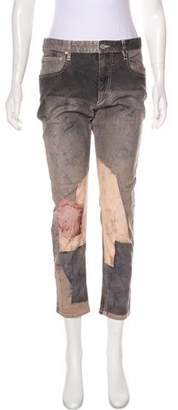 Isabel Marant Distressed Mid-Rise Jeans