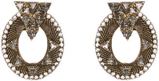 One Kings Lane Caboto Mesh Oval Earrings