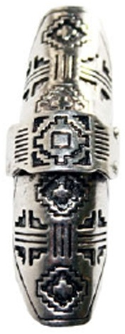 Marley B Parker Shield Ring in Antique Silver