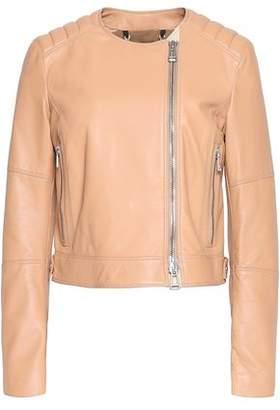 Belstaff Keswick Quilted-Paneled Leather Biker Jacket