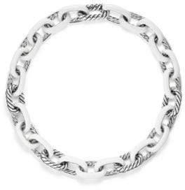 David Yurman Madison Chain Sterling Silver Enamel Necklace
