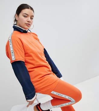 Puma Exclusive To ASOS Plus Taped Side Stripe Leggings In Orange