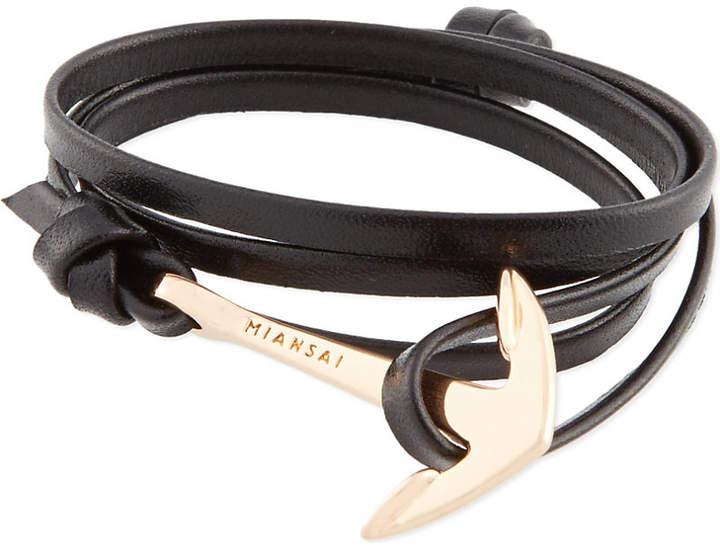 Miansai Rose gold leather anchor bracelet