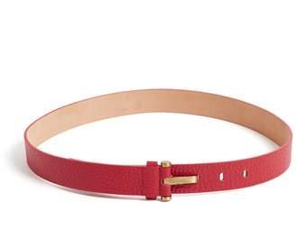 WtR - Alison Leather Belt Ruby Red