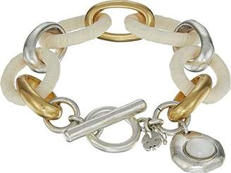 Lucky Brand Womens Raffia Chain Bracelet
