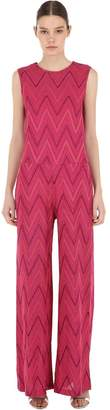 M Missoni Wide Leg Lurex Jersey Jumpsuit