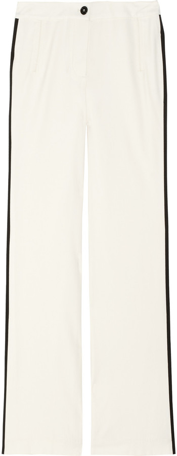 Adam Wool and cashmere-blend tuxedo pants