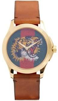 Gucci - Le Marché Des Merveilles Leather Watch - Mens - Brown Multi