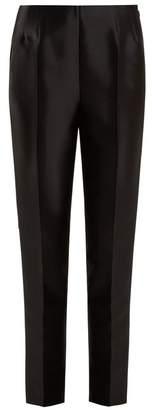 Gabriela Hearst - Masto Slim Leg Silk And Wool Blend Trousers - Womens - Black