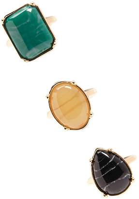 Forever 21 Faux Gem Ring Set